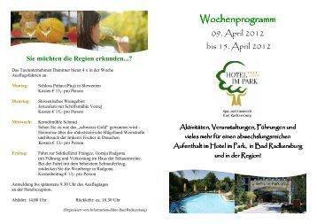 Sonntag, 15. April 2012 - Hotel im Park