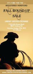 LINDSAY LIVESTOCK EXCHANGE - Ontario Herefords Association