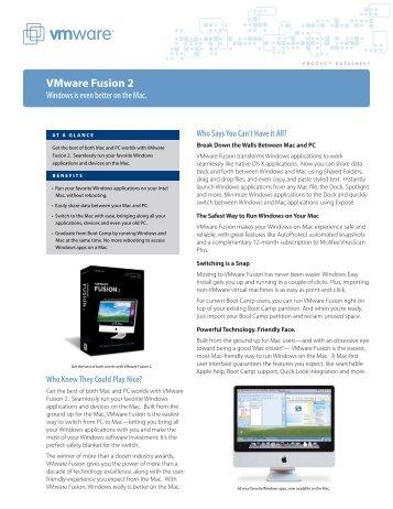PRODUCT DATASHEET VMware Fusion 2