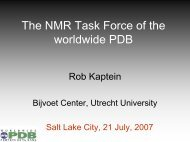 The NMR Task Force of the worldwide PDB