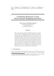 Combining Estimators Using Non-Constant Weighting Functions