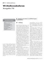 WI 04/07: WI – Studierendenforum: Ausgabe 76 - Wirtschaftsinformatik