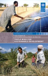 triple wins for sustainable development - United Nations ...