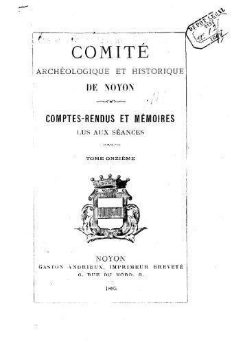 Société archéologique, historique et scientifique de Noyon ... - Index of