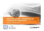 Cloud ante portas! - Auswirkung der Cloud auf die Organisation