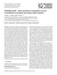 Modelling iodide – iodate speciation in atmospheric aerosol ...