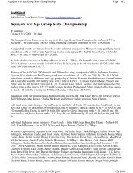 Aquajets win Age Group State Championship - TeamUnify