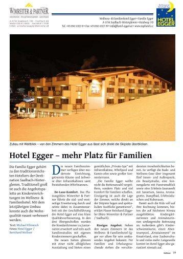 Hotel Egger – mehr Platz für Familien