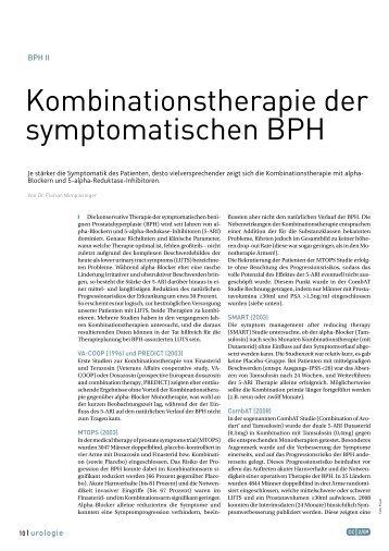 Kombinationstherapie der symptomatischen BPH - wimpissinger.net