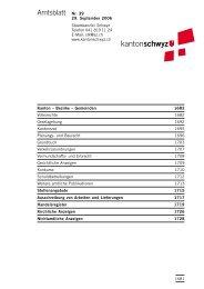Amtsblatt Nr. 39 - Kanton Schwyz