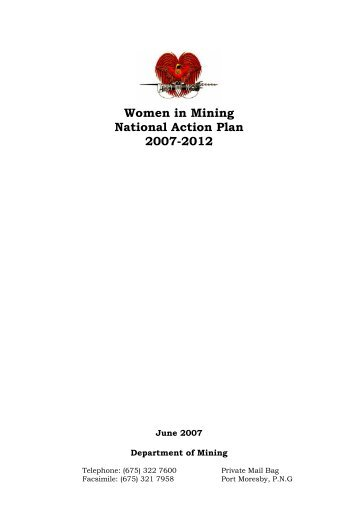 Women in Mining National Action Plan 2007-2012 - International ...