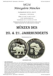 Münzgalerie München - MGM Muenzgalerie