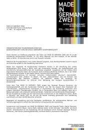 MADE IN GERMANY ZWEI Internationale Kunst in Deutschland 17 ...
