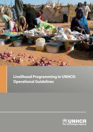 chapter 2: unhcr livelihood programming