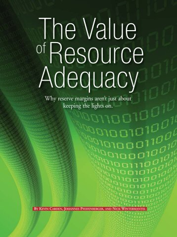 The Value of Resource Adequacy - 04/2011 - Astrape Consulting