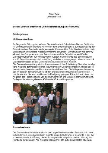 18.09.2012 - in Bitz