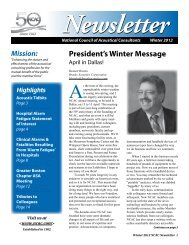 Newsletter - National Council of Acoustical Consultants