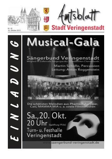die Anzeige im Amtsblatt! - Veringenstadt