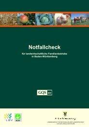 Broschüre Notfallcheck - für den landwirtschaftlichen ...