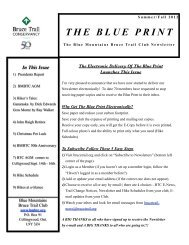 In This Issue - Blue Mountains Bruce Trail Club
