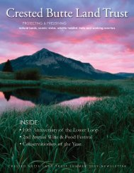 Conservationists of the Year - Crested Butte Land Trust
