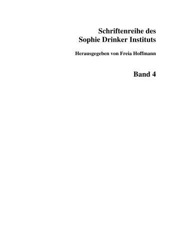 Schriftenreihe des Sophie Drinker Instituts Band 4 - oops ...