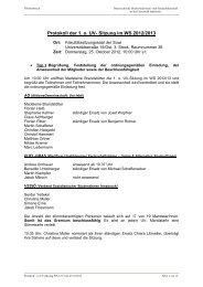 Protokoll der 1. o. UV- Sitzung im WS 2012/2013 - Österreichische ...