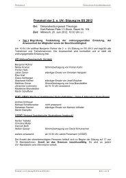 Protokoll der 2. o. UV- Sitzung im SS 2012