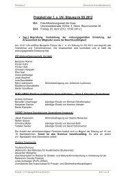 Protokoll der 1. o. UV- Sitzung im SS 2012 - Österreichische ...