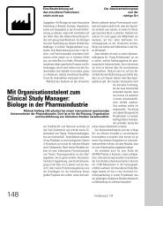 Mit Organisationstalent zum Clinical Study Manager: Biologe ... - VBio
