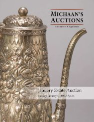 Sunday, January 4, 2009, 12 pm - Michaan's Auctions