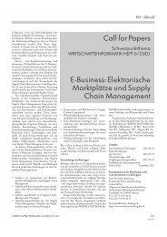 WI Ausgabe 02/2001: E-Business: Elektronische Marktplätze und ...