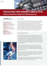 VOESTALPINE STAHL DONAWITZ GMBH & CO KG - Exzellente ...