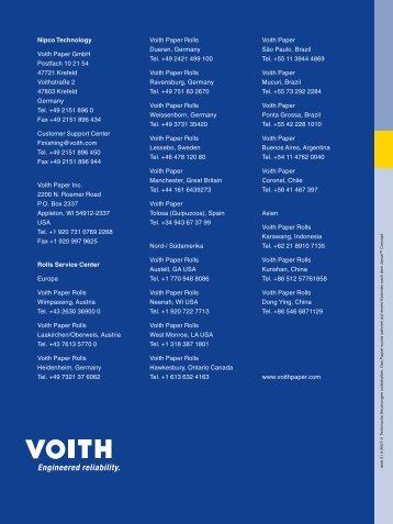 Nipco Technology Voith Paper GmbH Postfach 10 21 54 47721 ...