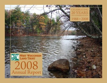 2008 Conservation - West Wisconsin Land Trust