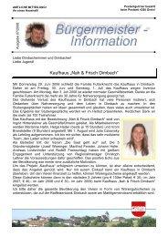 """Kaufhaus """"Nah & Frisch Dimbach"""" - Marktgemeinde Dimbach"""