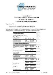 Protokoll der 6. ordentlichen Sitzung der FHV STV FHWN Im SS ...