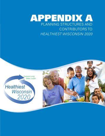 Healthiest Wisconsin 2020 - Wisconsin Department of Health Services