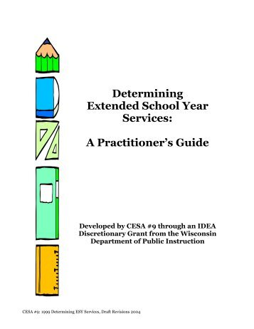 Services Beyond the School Year for Students With IEPs