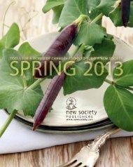 Spring 2013 Catalog - New Society Publishers