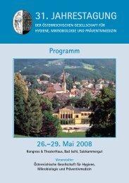 Programm 26.–29. Mai 2008 - Österreichische Gesellschaft für ...