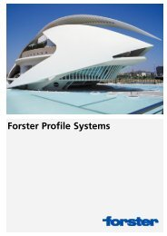 Forster Profile Systems
