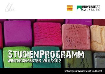 LeHrANGebOT im WiNTerSemeSTer 2011-2012 - Schwerpunkt ...