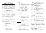 Semesterprogramm des W.K.St.V. Unitas Rheinfranken für das ...
