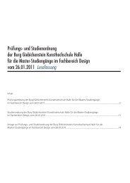 und Studienordnung der Burg Giebichenstein Kunsthochschule ...