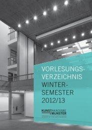 Wintersemester 2012/13 - Kunstakademie Münster