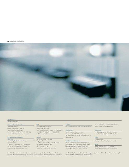 Fotografie: Thomas Rathay Der Global Supplier erscheint ... - Daimler