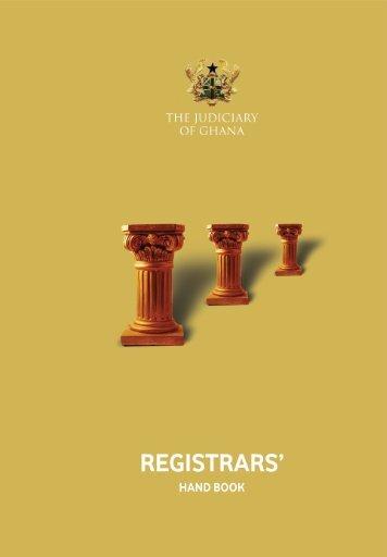 Court Registrars Handbook - Judicial Training Institute