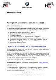 News 04 / 2009 Wichtige Informationen ... - Histo-Cup Austria
