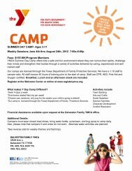 Day, Teen and Specialty Camp - YMCA of Greater Houston